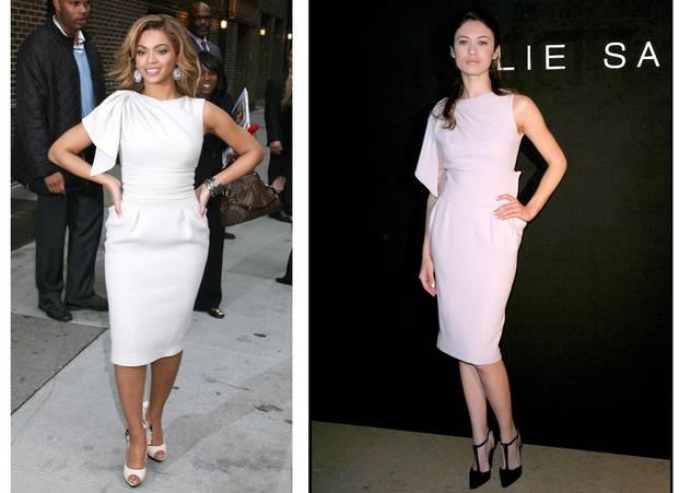 Beyonce şi Olga Kurylenko poartă aceeaşi rochie