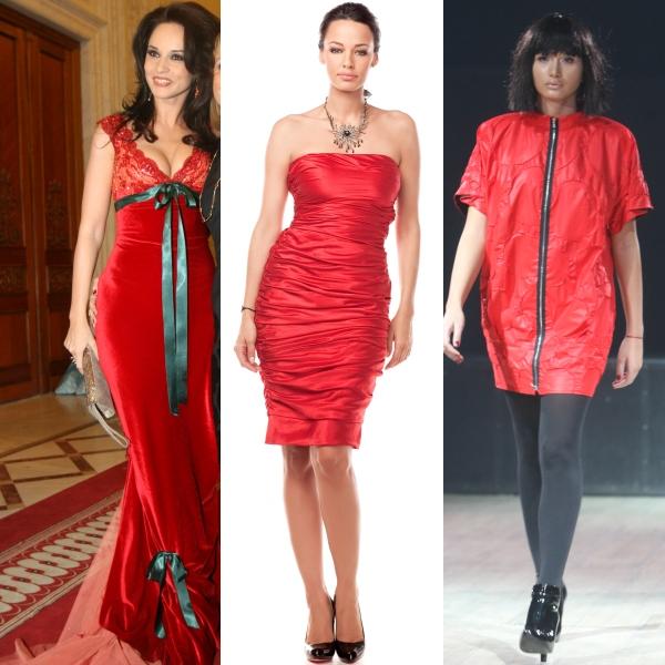 Cele mai frumoase rochii roşii pentru Crăciun