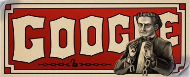 Magicianul Harry Houdini, sărbătorit de Google