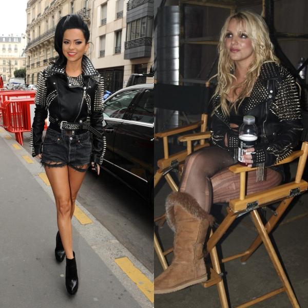 Inna şi Britney Spears, cu geci identice. Cui îi stă mai bine?