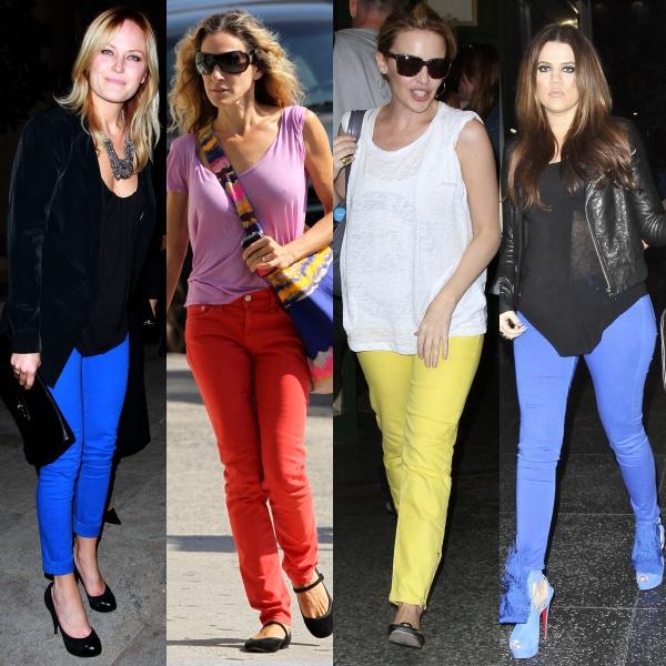 Blugii coloraţi, o nouă fiţă vestimentară în 2011