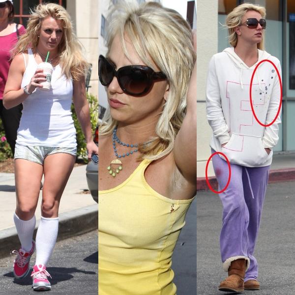 4 vedete îmbrăcate neglijent pe stradă