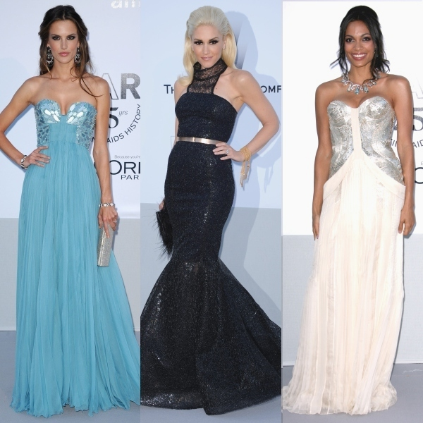 Cannes, gala amfAR: cele mai frumoase rochii ale divelor