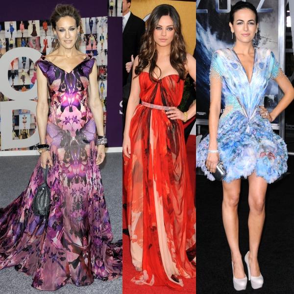 6 rochii frumoase Alexander McQueen purtate de vedete