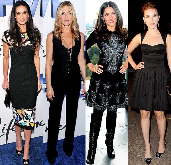 4 dive sexy în negru! Care e îmbrăcată mai stilat?