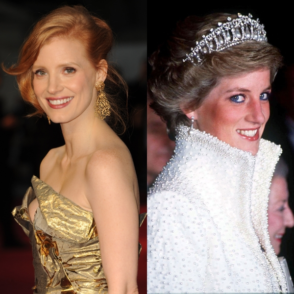 "Jessica Chastain, prinţesa Diana în ""Caught In Flight"""
