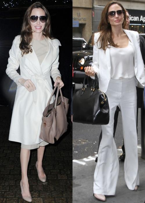 Angelina Jolie, sexy în alb şi negru sau îngrijorător de slabă?
