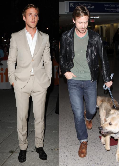 Bărbaţi celebri, la costum şi sport. Cum crezi că le stă mai bine?