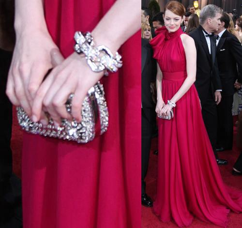 Emma Stone la Oscar 2012