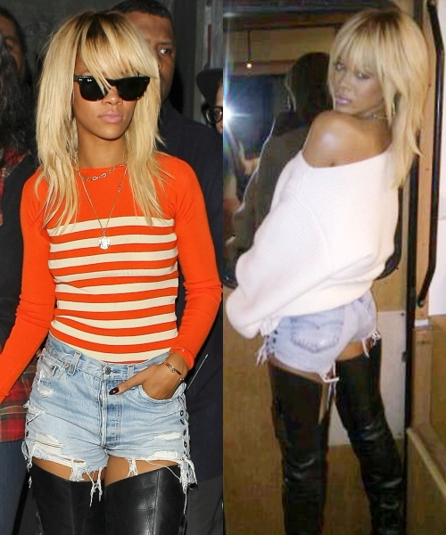 Look excentric: Rihanna s-a vopsit blond platinat!