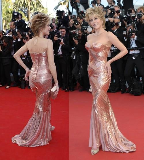 Cannes 2012: Oau! Cât de bine arată Jane Fonda, la 74 de ani, pe covorul roşu!