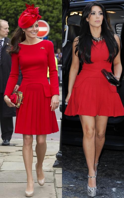 Wow! Ducesa Kate şi Kim Kardashian în rochii aproape identice. Ce surpriză!