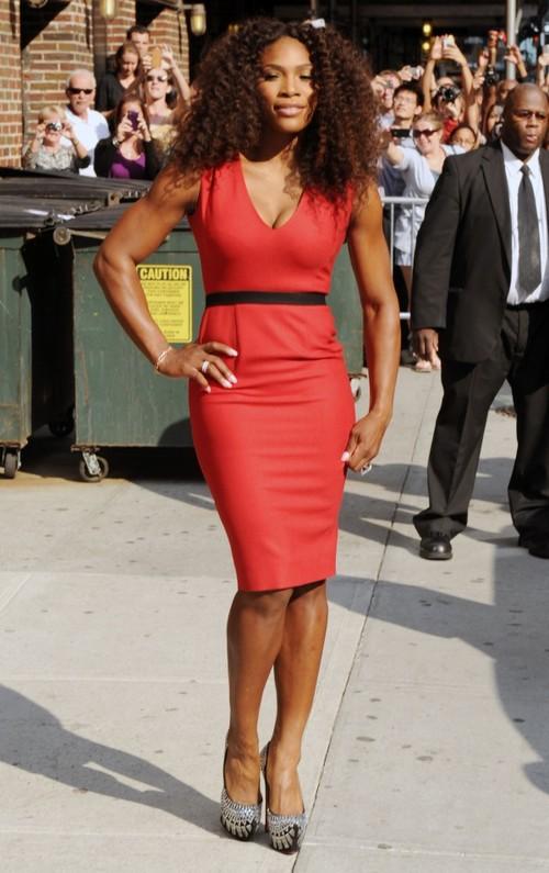 Serena Williams, superbă în roşu