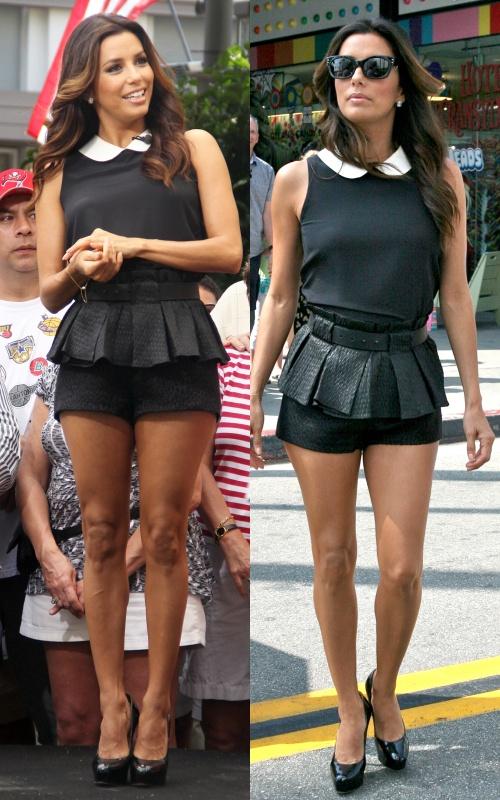 Învaţă de la Eva Longoria cum să te îmbraci ca să pară picioarele mai lungi!