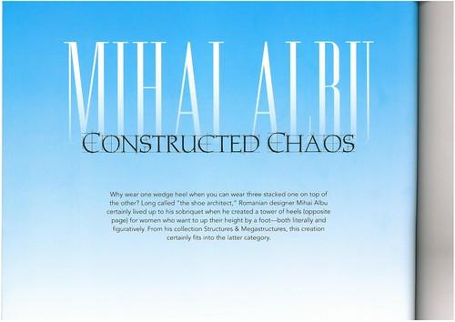 Mihai Albu, primul designer român care intră oficial în istoria modei internaţionale