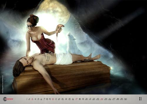 Artă sau prost gust? Calendare sexy cu…sicrie