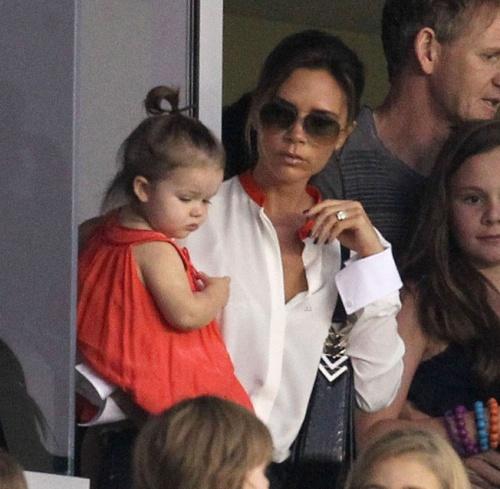 POZE: Harper Seven Beckham, fashionistă la un an jumătate!