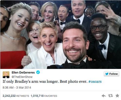 """Vedetele s-au ţinut de glume la Oscar! Vezi ce """"selfie-uri"""" şi-au făcut!"""