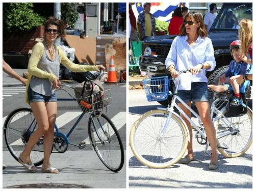 Cum să te îmbraci pe bicicletă. Inspiră-te de la vedete!