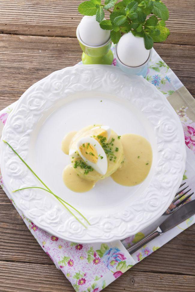 Salată cu ou și muștar Dijon