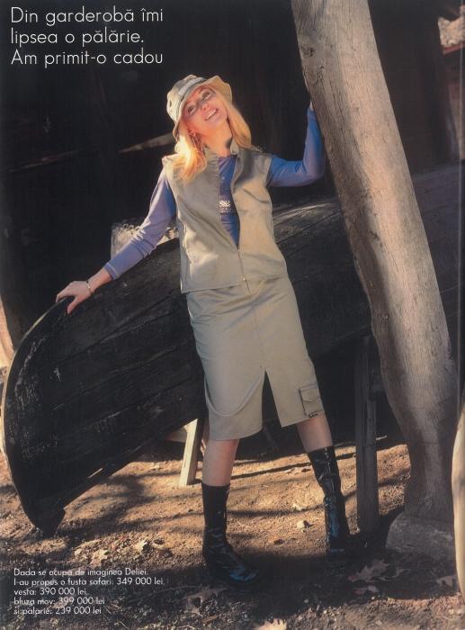 Delia - pictorial de moda in 2001
