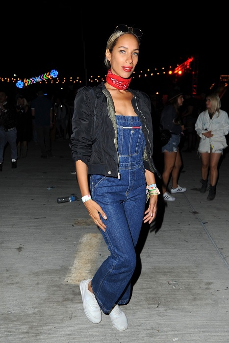 Leona Lewis poses at the  the Neon Carnival