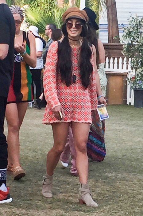 Vanessa Hudgens channels her inner hippie on the last day of Coachella