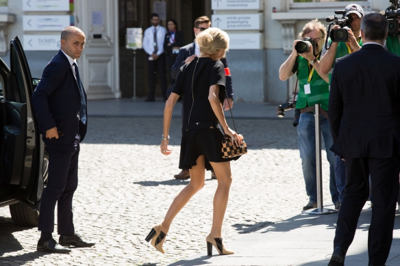 Brigitte Macron în Bruxelles