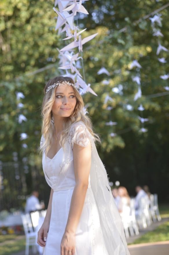 Laura Cosoi mireasa rochie alba voal