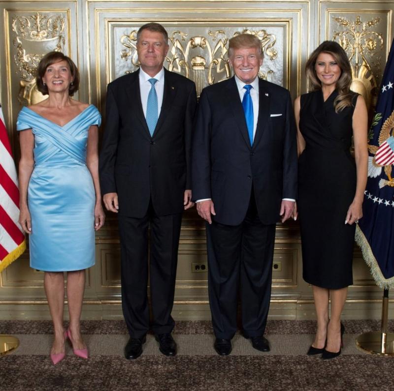 Carmen și Klaus Iohannis, alături de Melania și Donald Trump la ONU. Ce a purtat prima doamnă a României