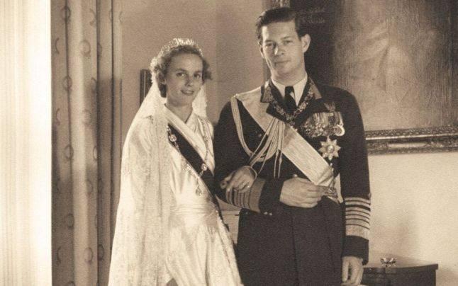 Regele Mihai si Regina Ana in ziua nuntii