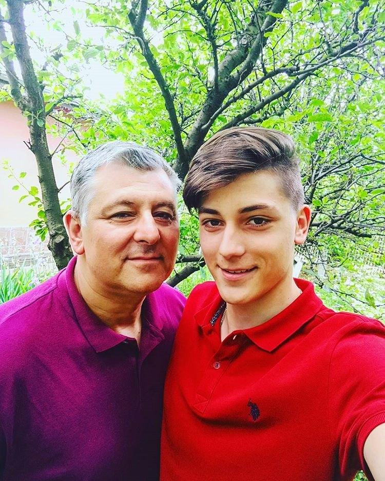 Mihai Dedu si fiul sau Matei