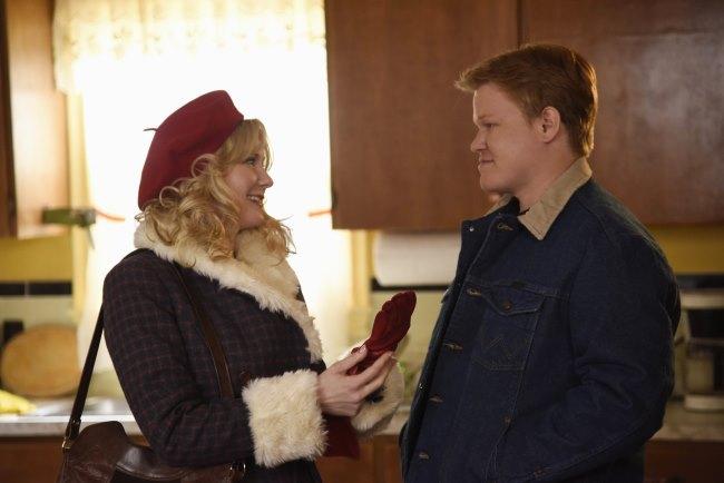 Kirsten Dunst șiJesse Plemons, secvena din filmul Fargo