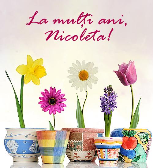 Felicitare de Sfântul Nicolae - La multi ani, Nicoleta!
