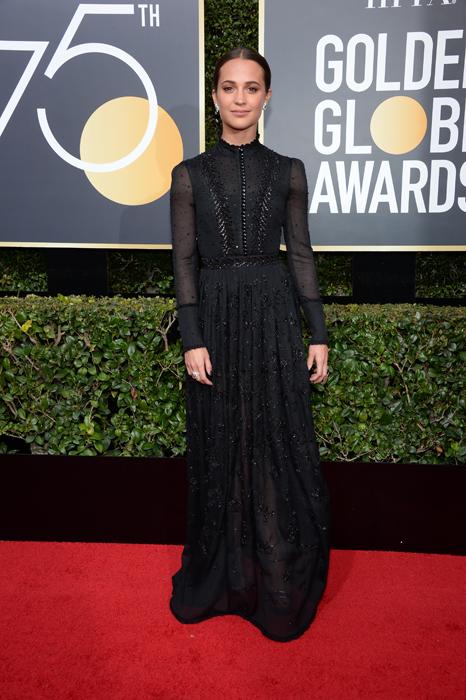 Alicia Vikander #TimesUp Globurile de Aur