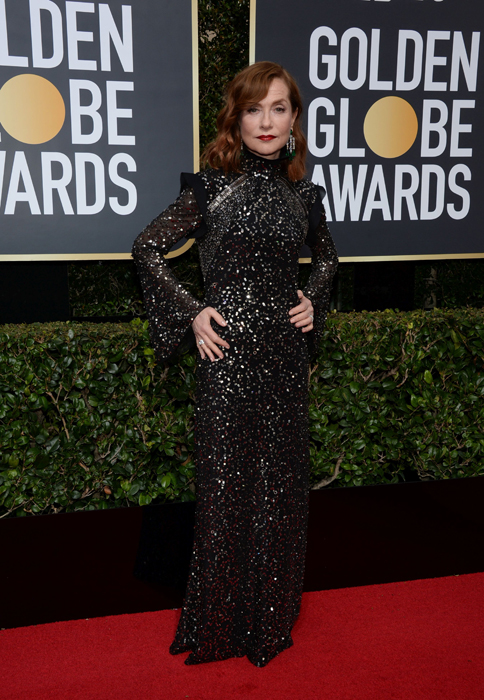 Isabelle Huppert #TimesUp Globurile de Aur
