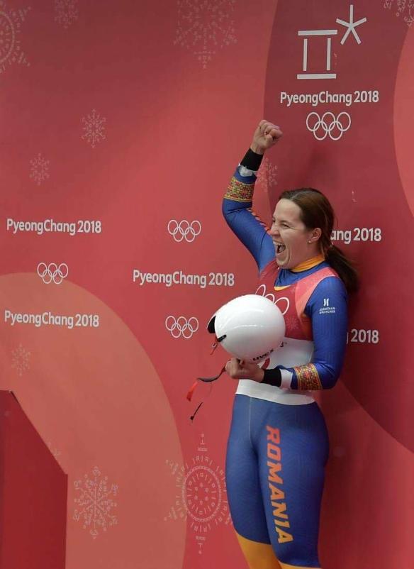 Raluca Stramaturaru locul 7 sanie olimpiada iarna pyeongchang 2018