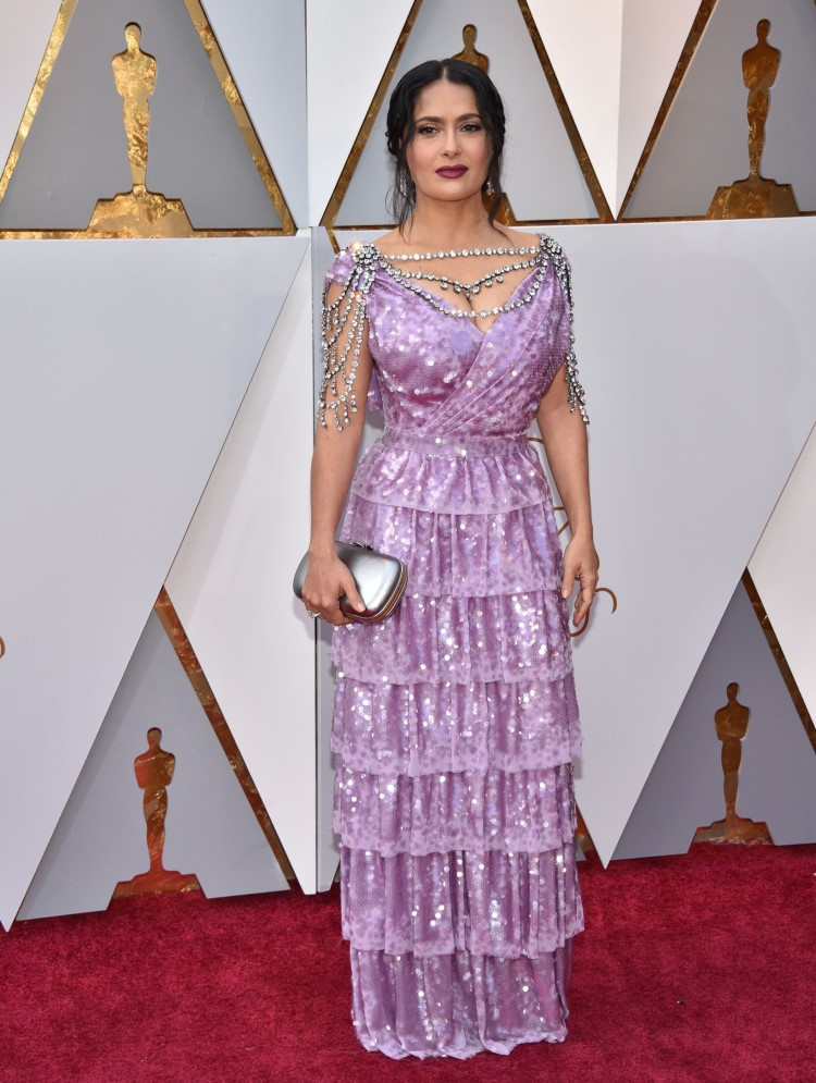 Salma Hayek tinuta neinspirata la Oscar 2018