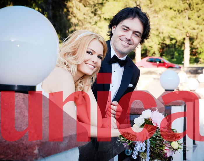Lavinia Petrea si sotul sau, Romulus Varga, in ziua nuntii
