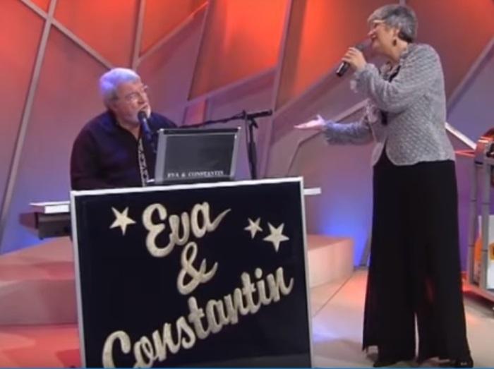 Eva Kiss în duet cu soțul său, Radu Constantin