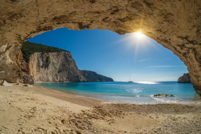 Porto Katsiki beach on Ionian Sea Lefkada, Greece