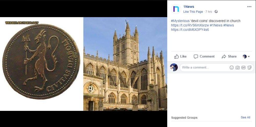 """Misterioasele """"monede ale diavolului"""", găsite într-o biserică veche FOTO"""