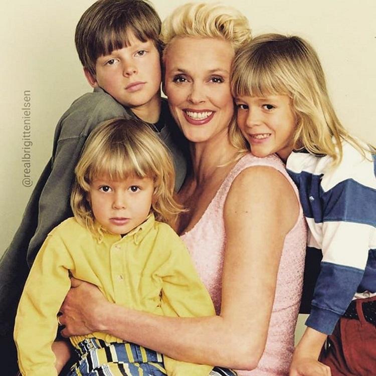 Brigitte Nielsen si copiii ei