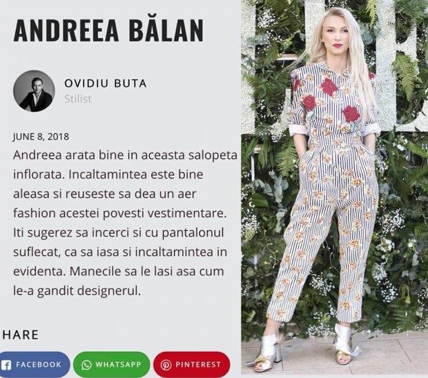 Andreea Balan - replica Iulia Albu