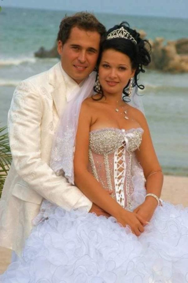 Deea si Dinu Maxer in ziua nuntii