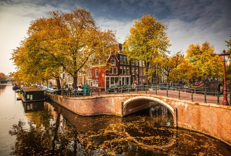 imagini de toamna in olanda, amsterdam