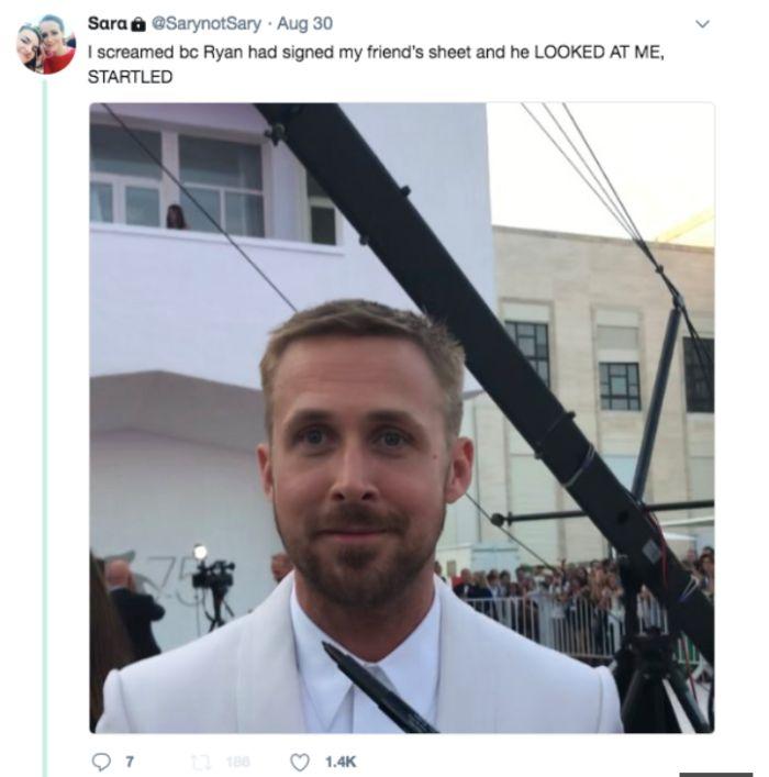 Fotografia cu Ryan Gosling ce a devenit virală. Expresia actorului este neprețuită