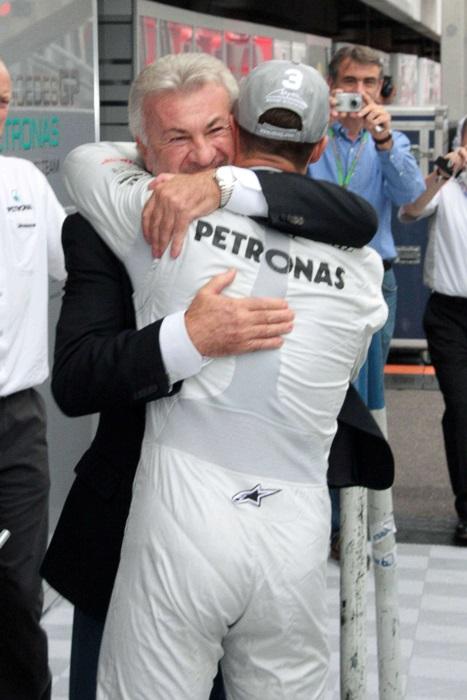 Michael Schumacher si managerul lui