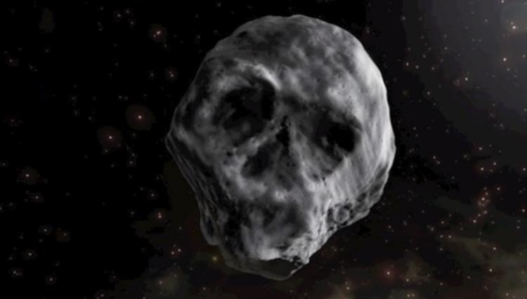 asteroid in forma craniu
