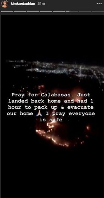 Kim Kardashian, evacuată după ce un incendiu a izbucnit în Calabasas